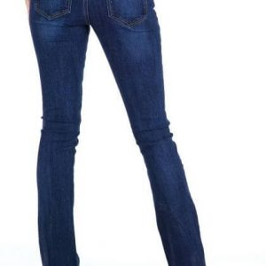 SLIM BOOT CUT JEAN MEDIUM STONE WASH DISTRESSED